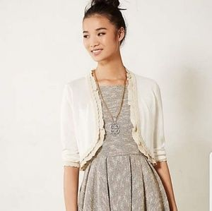 Anthropologie Knitted & Knotted Ruffled Shrug